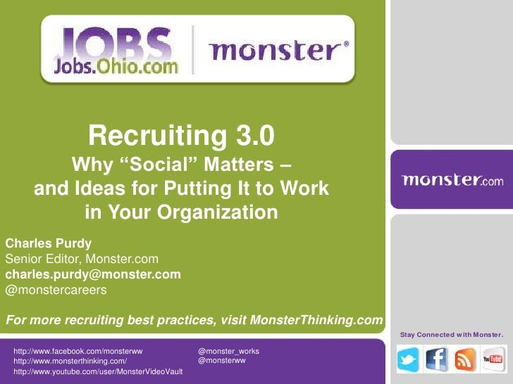 """Recruiting 3.0         Why """"Social"""" Matters –      and Ideas for Putting It to Work           in Your OrganizationCharles ..."""