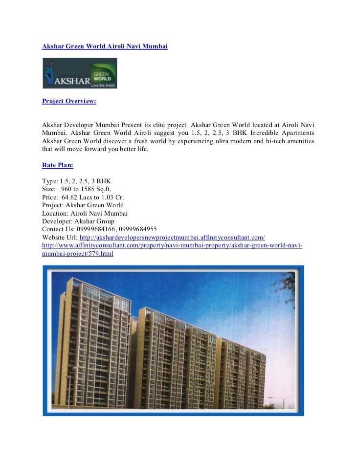 Akshar Green World Airoli Navi Mumbai
