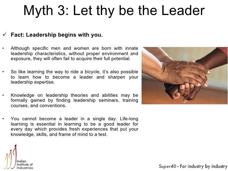 Leadership: Myths-facts