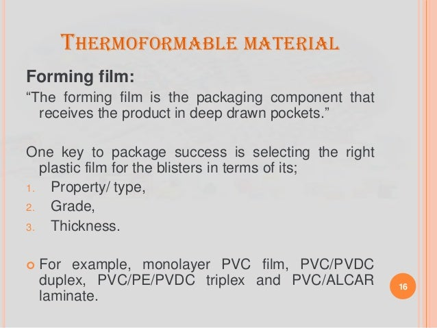 PACKAGING OF TABLETS: TYPES, MATERIALS AND QC