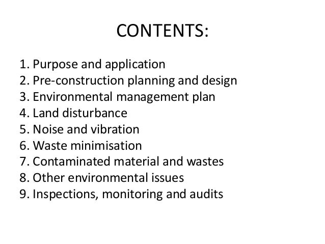 environmental considerations in construction