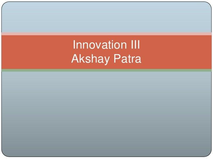 Akshay patra scamper