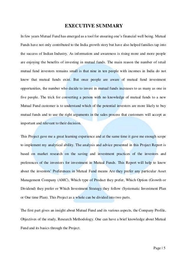 mutual funds research paper pdf