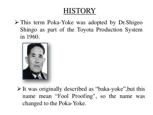 Poke Yoke Or Mistake Proofing