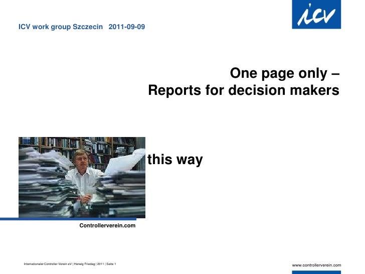 ICV work group Szczecin 2011-09-09                                                                                      On...