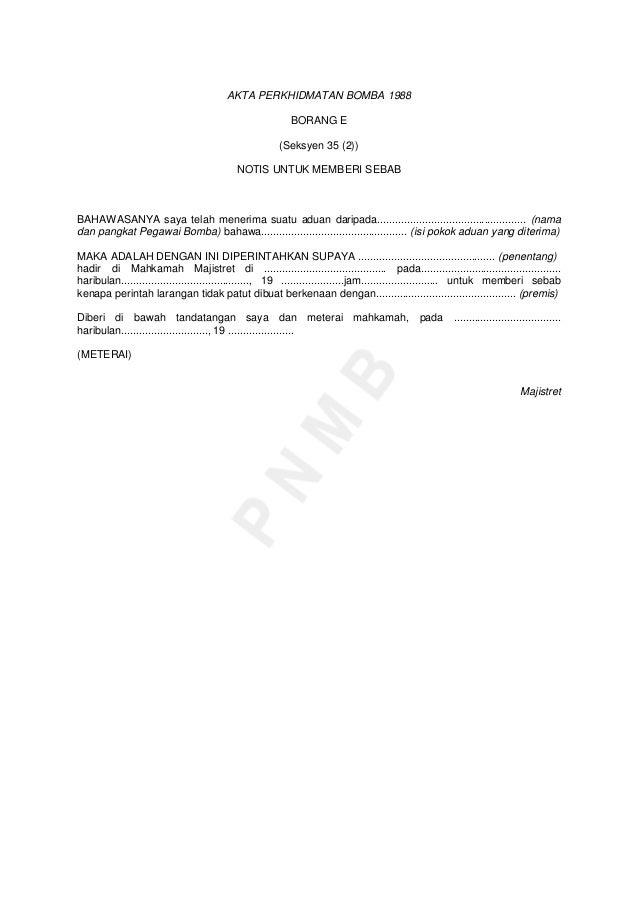 Akta 341 Akta Perkhidmatan Bomba 1988