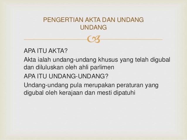 Akta Dan Undang Undang Kanak2