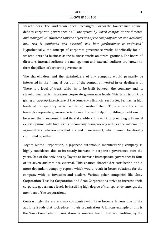 essay on the benefit of good corporate governance This essay has been submitted  mark spencer plcs corporate governance case  all parties have tried to force the company to comply with good corporate governance.