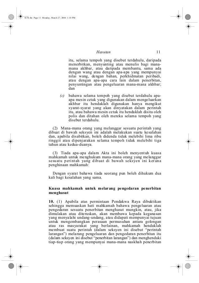 Hasutan 11  015b.fm Page 11 Monday, March 27, 2006 1:10 PM  itu, selama tempoh yang disebut terdahulu, daripada  menerbitk...