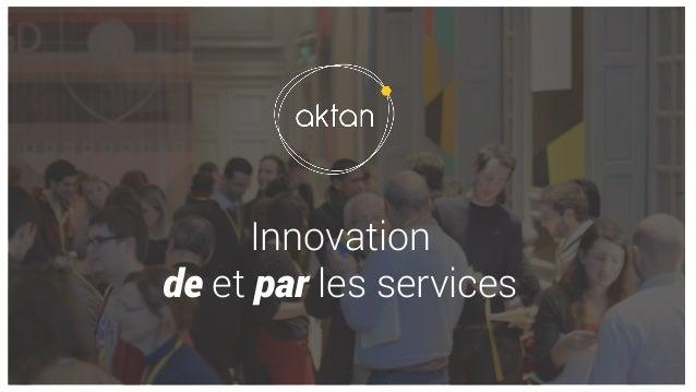 Innovation de et par les services