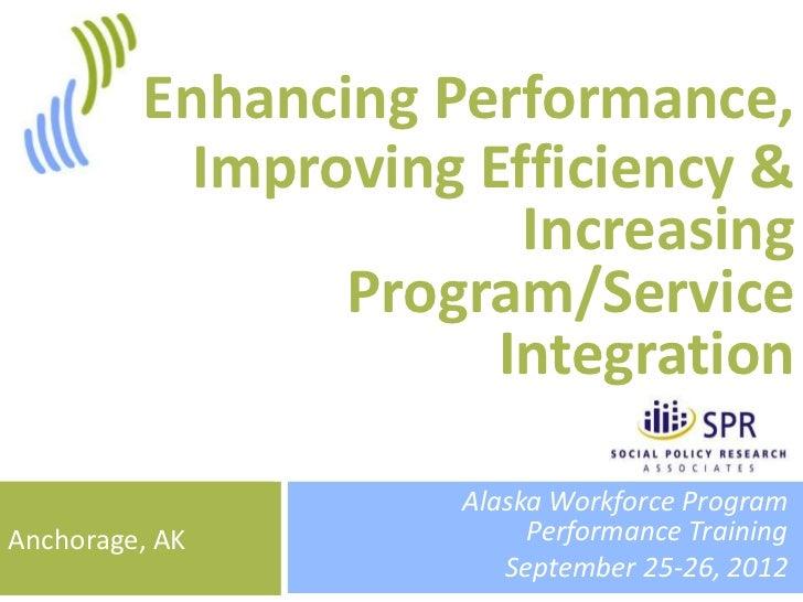 1         Enhancing Performance,           Improving Efficiency &                       Increasing                Program/...