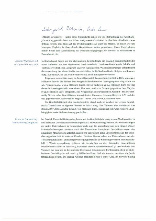 Aktionärsbrief 2005