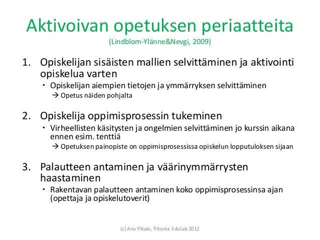 Aktivoivia opetusmenetelmiä Slide 2