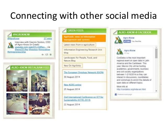 Agro-Know internal training: Using the Agro-Know blog slideshare - 웹