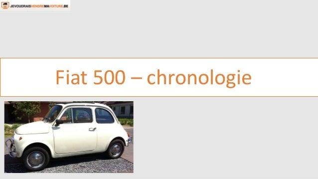 Fiat 500 – chronologie