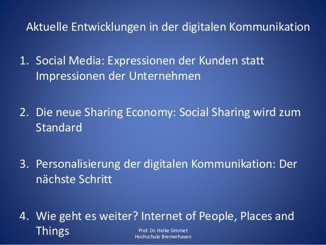 Aktuelle Entwicklungen in der digitalen Kommunikation Slide 2