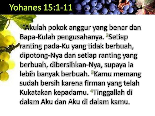 Tinggal di Dalam Kristus (Yoh 15:1-11) Slide 3