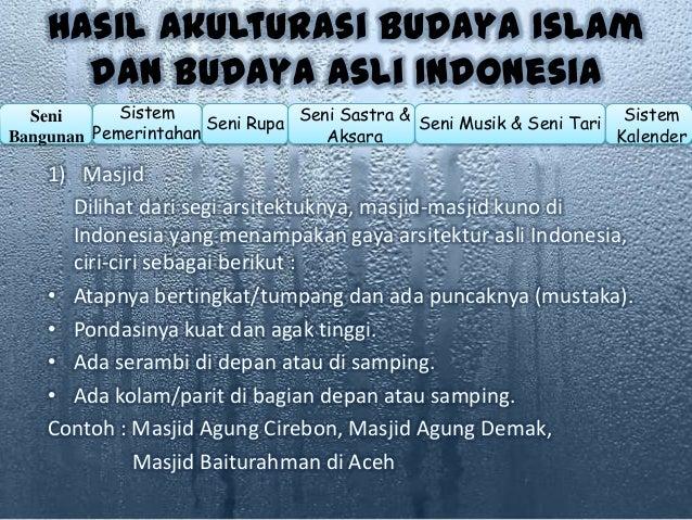 Akulturasi Budaya Hindu Budha Di Indonesia Dalam Berbagai Bidang