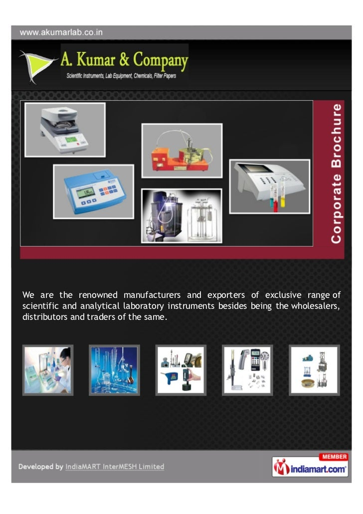We are the renowned manufacturers and exporters of exclusive range ofscientific and analytical laboratory instruments besi...