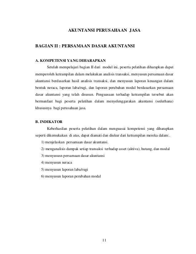 Akuntansi Perusahaan Jasa
