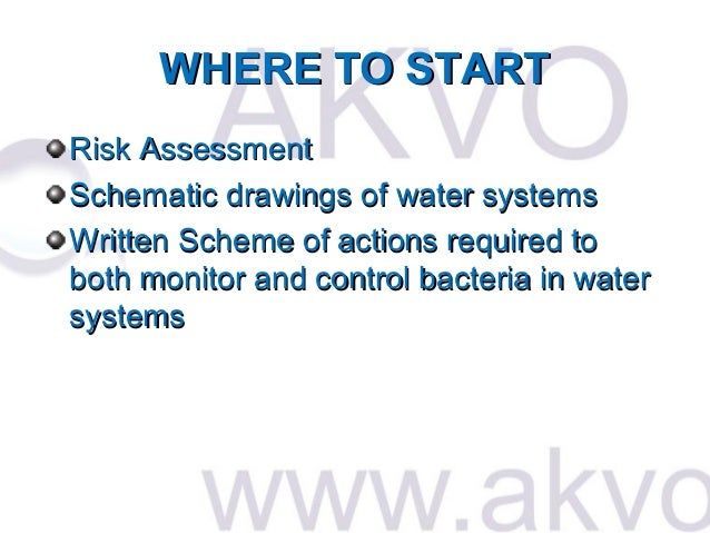 Akvo the control of legionella bacteria in bakery water for Ford motor company risk assessment