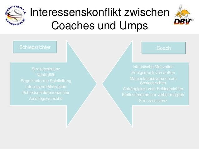 Interessenskonflikt zwischen         Coaches und UmpsSchiedsrichter                                Coach                  ...