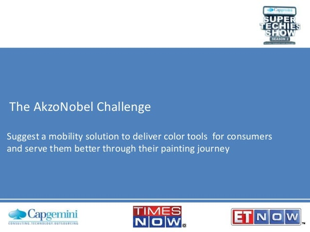 The AkzoNobel Challenge Suggest a mobility solution to deliver color tools for consumers and serve them better through the...