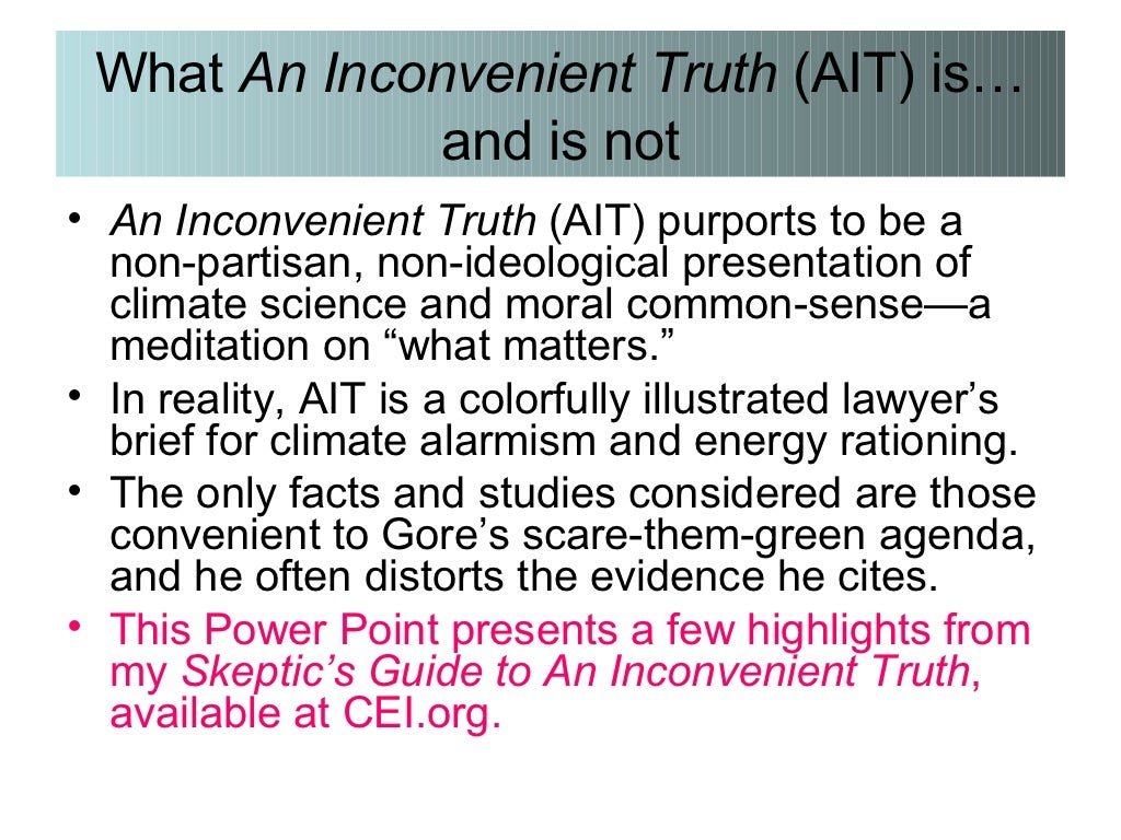 an inconvenient truth by al gore global warming essay Free essay: book review an inconvenient truth: the planetary emergency of global warming and what we can do about it by al gore rodale press, 2006 328 pp.