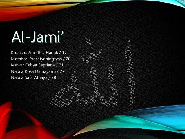 Asmaul Husna Al Jami