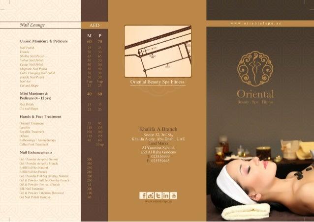 Oriental spa price list khalifa city for N gents salon karachi prices