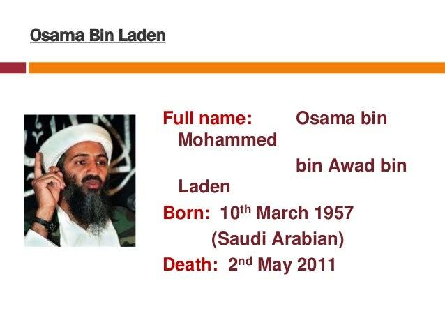 Full Name: Al-Qaeda Terrorist PPT