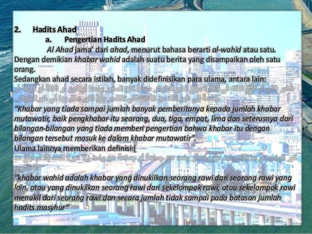 Al Quran Hadist Hadis Ditinjau Dari Kualitas Kuantitasnya