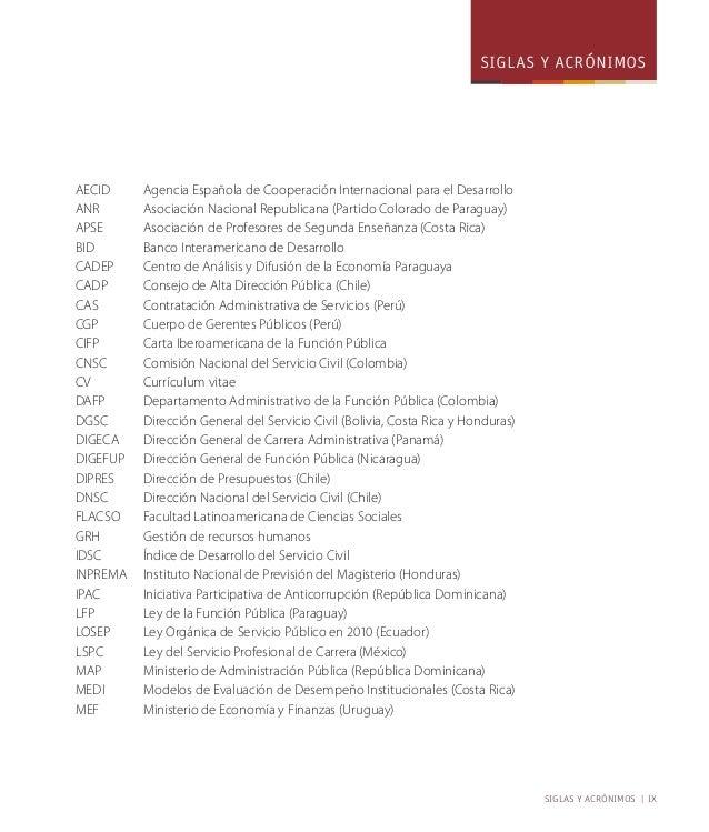 siglas y acrónimos | xi  SIRH Sistema de Información de Recursos Humanos (El Salvador)  SIRO Sistema Integrado de Retribuc...