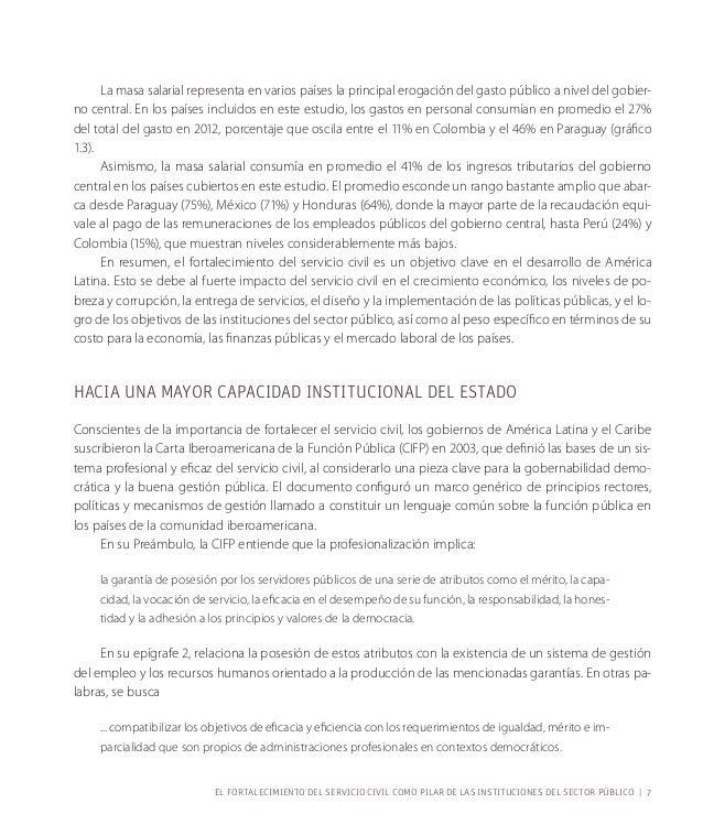 El BID desarrolló una metodología de puntos críticos en base a la Carta Iberoamerica-na  de la Función Pública para valora...
