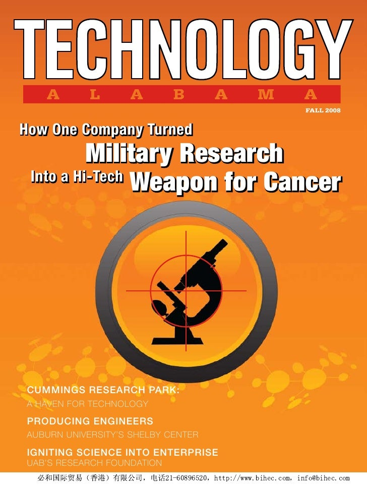FALL 2008   How One Company Turned           Military Research  Into a Hi-Tech                 Weapon for Cancer     Cummi...