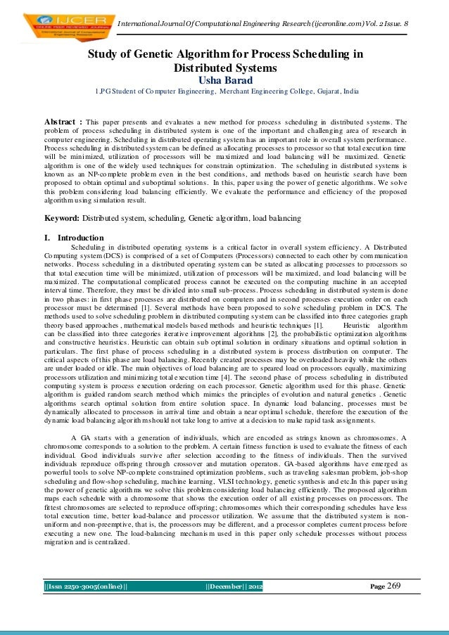I nternational Journal Of Computational Engineering Research (ijceronline.com) Vol. 2 Issue. 8              Study of Genet...