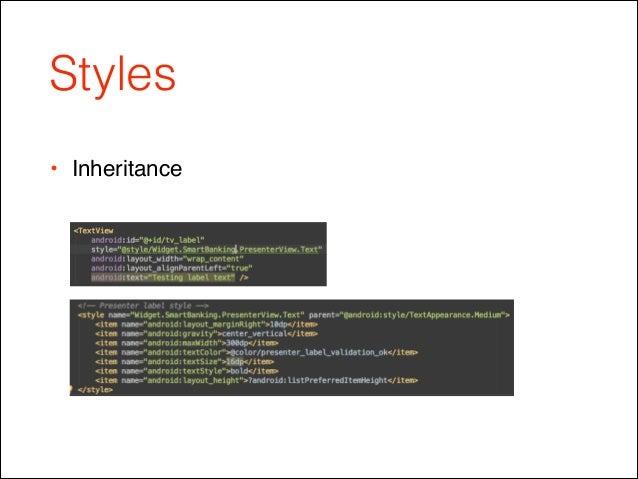 Styles • Inheritance