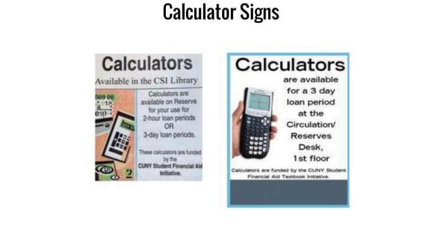 Calculator Signs