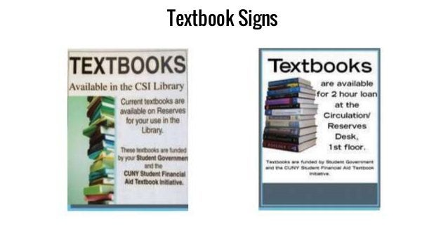 Textbook Signs