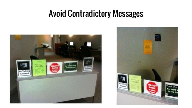 Avoid Contradictory Messages