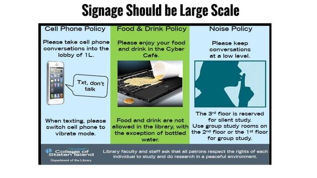 Signage Should be Large Scale