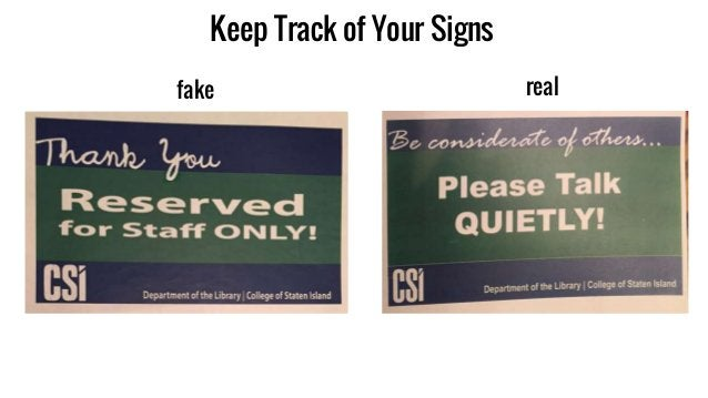 Keep Track of Your Signs fake real