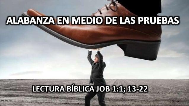 LECTURA BÍBLICA JOB 1:1; 13-22