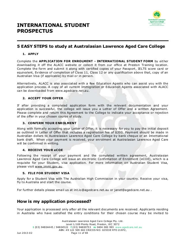 Alacc international student prospectus procedures 11 fandeluxe Choice Image