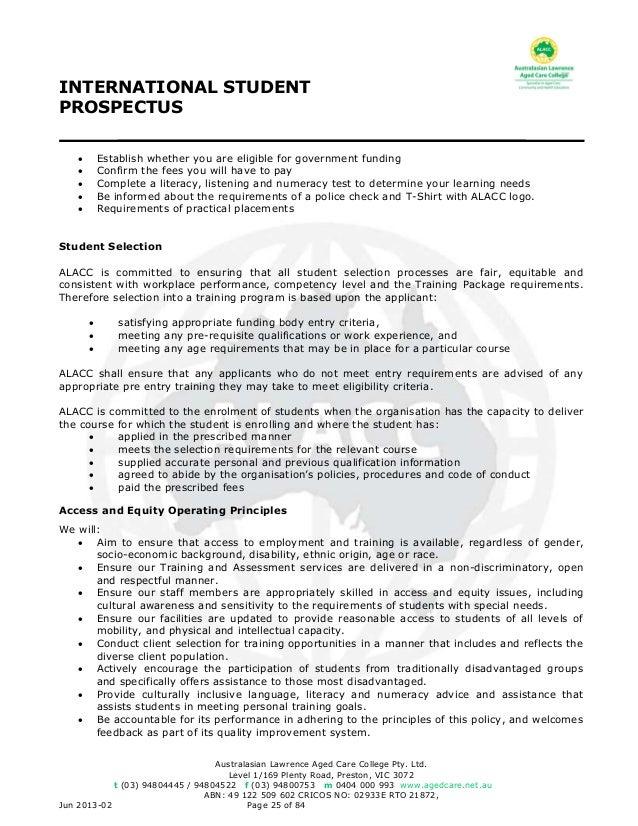 Alacc international student prospectus explained 25 fandeluxe Choice Image