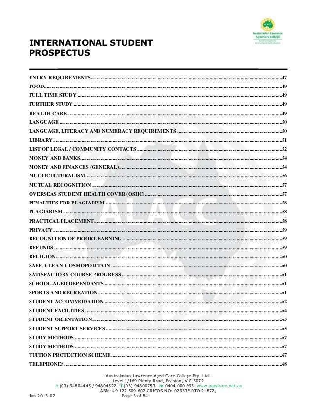 Alacc international student prospectus fandeluxe Choice Image