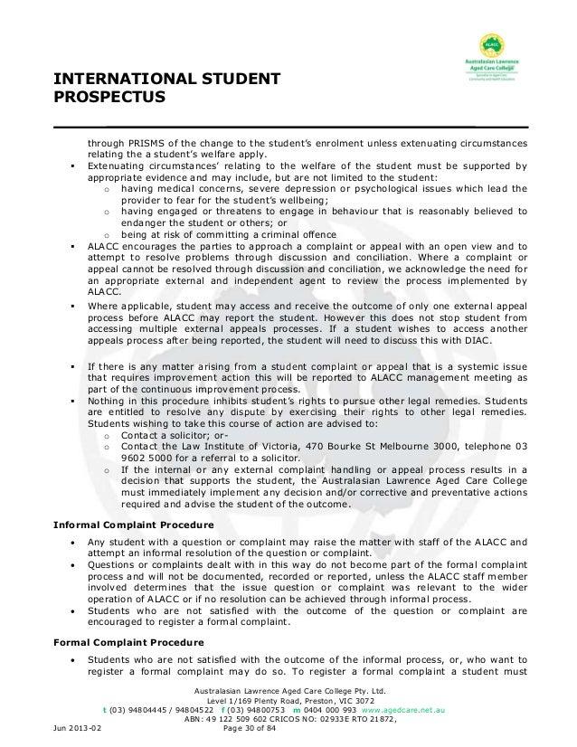 Alacc international student prospectus notifying deewr 30 fandeluxe Choice Image