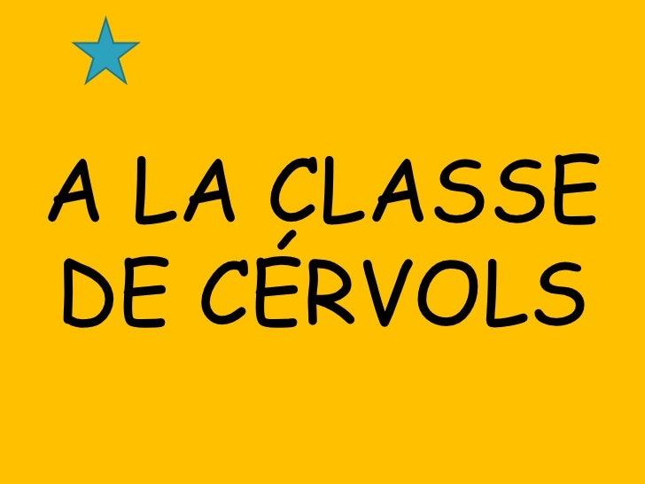 A LA CLASSEDE CÉRVOLS