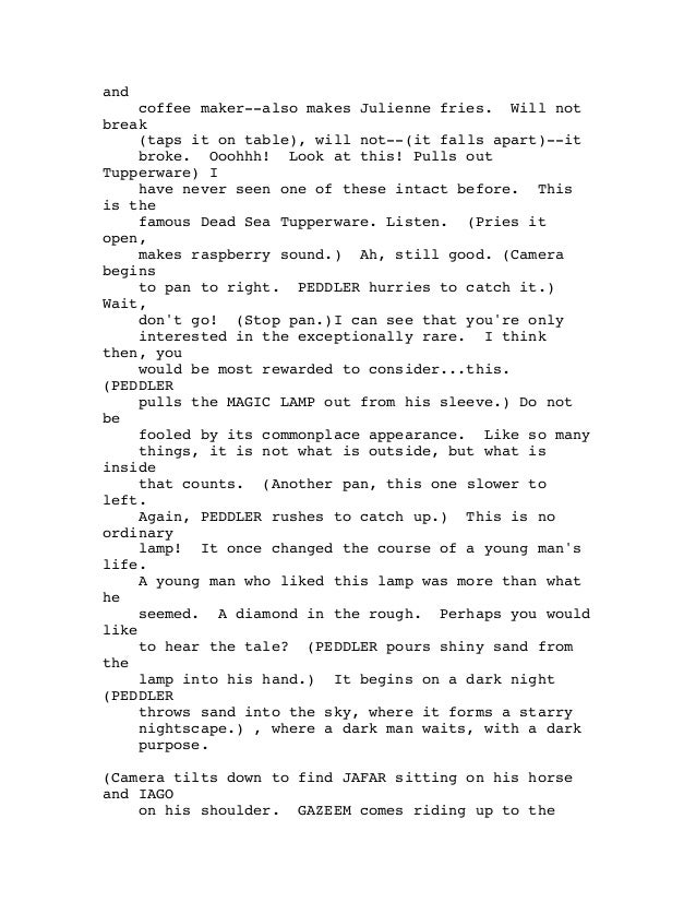 Aladdin script Slide 2