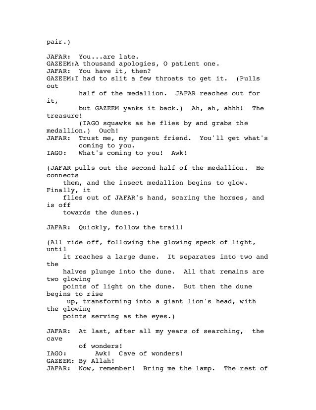Aladdin script Slide 3